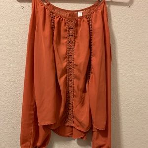 Orange M blouse